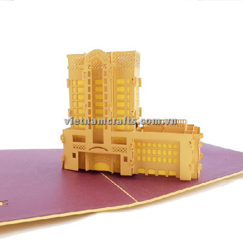 CU03 Buy Custom 3d Pop Up Greeting Cards Congratulations day 3d Foldable Personalized Wedding Pop Up Card Caravel Hotel (1)