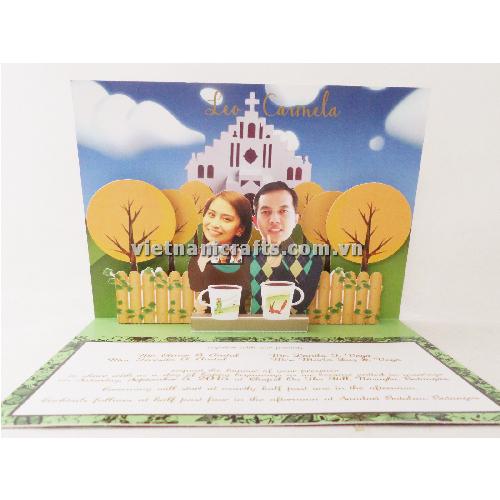 CU06 Buy Custom 3d Pop Up Greeting Cards Congratulations day 3d Foldable Personalized Wedding Pop Up Card