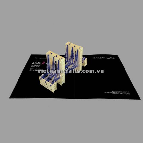 CU09 Buy Custom 3d Pop Up Greeting Cards Congratulations day 3d Foldable Personalized Wedding Pop Up Card (2)