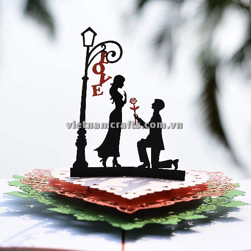 CU15 Buy Custom 3d Pop Up Greeting Cards Congratulations day 3d Foldable Personalized Wedding Pop Up Card (4)