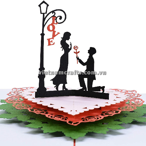 CU15 Buy Custom 3d Pop Up Greeting Cards Congratulations day 3d Foldable Personalized Wedding Pop Up Card (5)