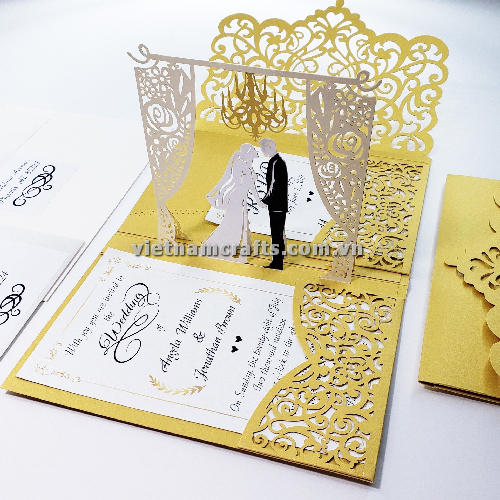 CU16 Buy Custom 3d Pop Up Greeting Cards Congratulations day 3d Foldable Personalized Wedding Pop Up Card