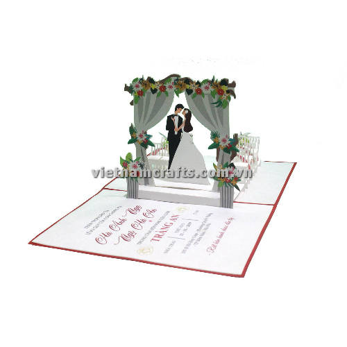 CU19 Buy Custom 3d Pop Up Greeting Cards Congratulations day 3d Foldable Personalized Wedding Pop Up Card (1)