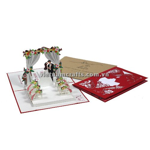 CU19 Buy Custom 3d Pop Up Greeting Cards Congratulations day 3d Foldable Personalized Wedding Pop Up Card (2)