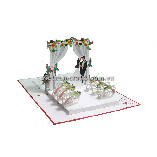 CU19 Buy Custom 3d Pop Up Greeting Cards Congratulations day 3d Foldable Personalized Wedding Pop Up Card (3)