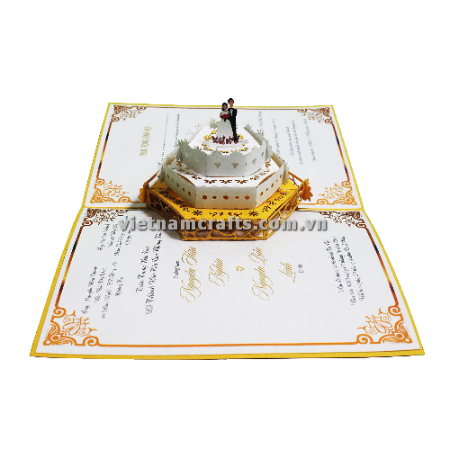 CU22 Buy Custom 3d Pop Up Greeting Cards Congratulations day 3d Foldable Personalized Wedding Pop Up Card (2)