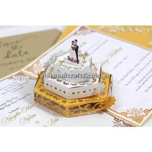 CU22 Buy Custom 3d Pop Up Greeting Cards Congratulations day 3d Foldable Personalized Wedding Pop Up Card (3)