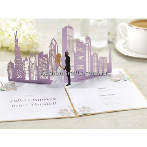CU23 Buy Custom 3d Pop Up Greeting Cards Congratulations day 3d Foldable Personalized Wedding Pop Up Card (2)