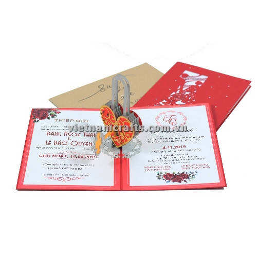 CU26 Buy Custom 3d Pop Up Greeting Cards Congratulations day 3d Foldable Personalized Wedding Pop Up Card (2)