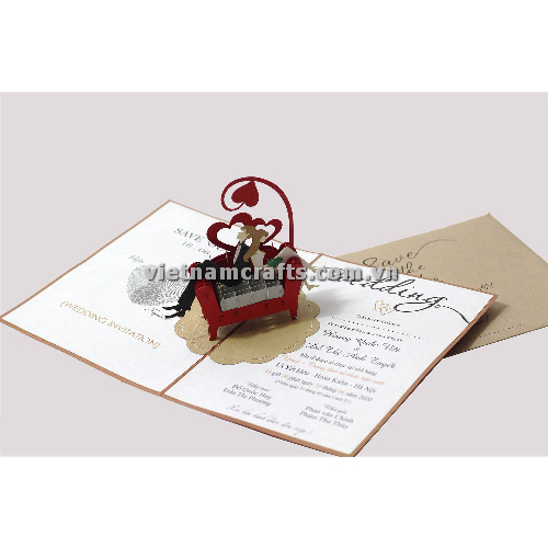 CU28 Buy Custom 3d Pop Up Greeting Cards Congratulations day 3d Foldable Personalized Wedding Pop Up Card (1)