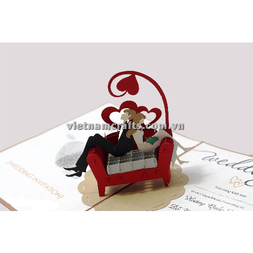 CU28 Buy Custom 3d Pop Up Greeting Cards Congratulations day 3d Foldable Personalized Wedding Pop Up Card (2)