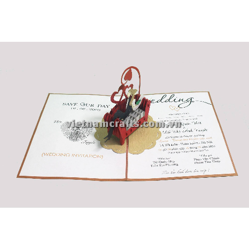 CU28 Buy Custom 3d Pop Up Greeting Cards Congratulations day 3d Foldable Personalized Wedding Pop Up Card (3)