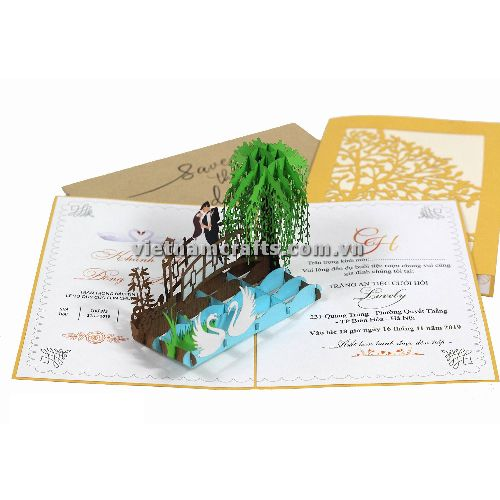 CU29 Buy Custom 3d Pop Up Greeting Cards Congratulations day 3d Foldable Personalized Wedding Pop Up Card (1)