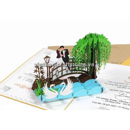 CU29 Buy Custom 3d Pop Up Greeting Cards Congratulations day 3d Foldable Personalized Wedding Pop Up Card (2)