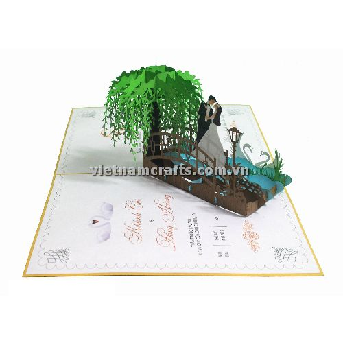 CU29 Buy Custom 3d Pop Up Greeting Cards Congratulations day 3d Foldable Personalized Wedding Pop Up Card (3)