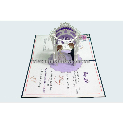 CU30 Buy Custom 3d Pop Up Greeting Cards Congratulations day 3d Foldable Personalized Wedding Pop Up Card (3)