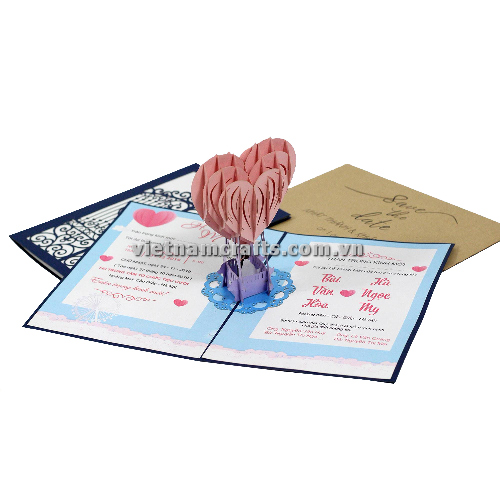 CU31 Buy Custom 3d Pop Up Greeting Cards Congratulations day 3d Foldable Personalized Wedding Pop Up Card (1)