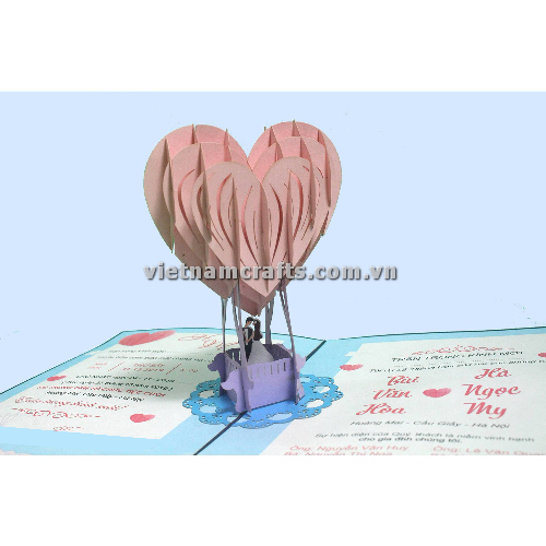 CU31 Buy Custom 3d Pop Up Greeting Cards Congratulations day 3d Foldable Personalized Wedding Pop Up Card (2)
