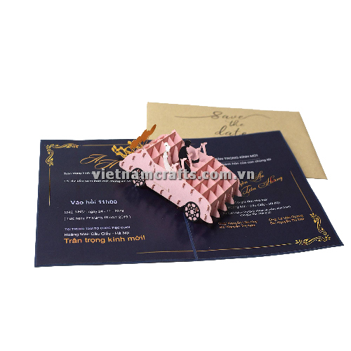 CU32 Buy Custom 3d Pop Up Greeting Cards Congratulations day 3d Foldable Personalized Wedding Pop Up Card (1)
