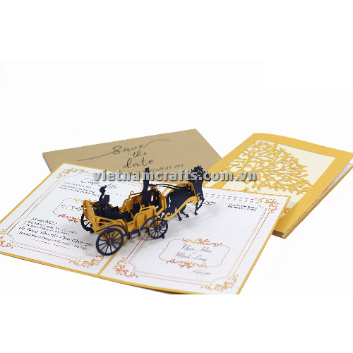 CU33 Buy Custom 3d Pop Up Greeting Cards Congratulations day 3d Foldable Personalized Wedding Pop Up Card (2)