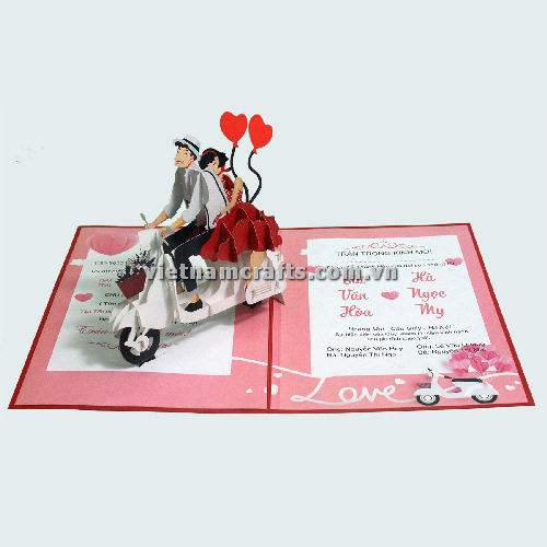CU34 Buy Custom 3d Pop Up Greeting Cards Congratulations day 3d Foldable Personalized Wedding Pop Up Card (1)