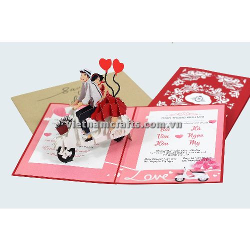 CU34 Buy Custom 3d Pop Up Greeting Cards Congratulations day 3d Foldable Personalized Wedding Pop Up Card (2)