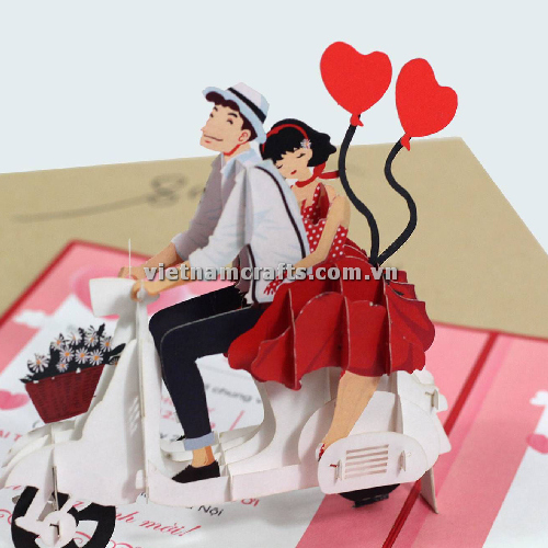 CU34 Buy Custom 3d Pop Up Greeting Cards Congratulations day 3d Foldable Personalized Wedding Pop Up Card (3)