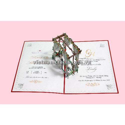 CU35 Buy Custom 3d Pop Up Greeting Cards Congratulations day 3d Foldable Personalized Wedding Pop Up Card (2)