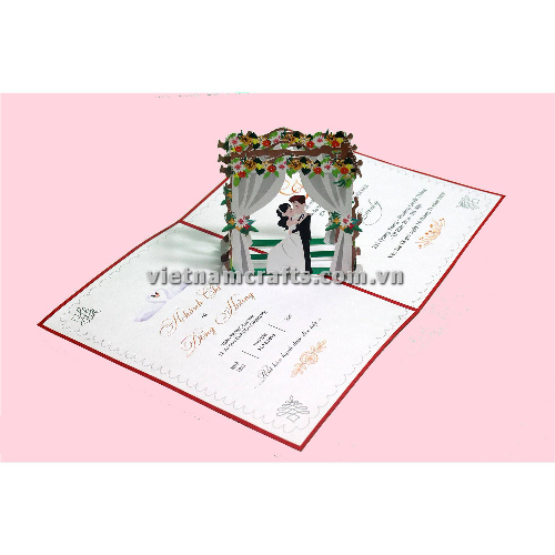CU35 Buy Custom 3d Pop Up Greeting Cards Congratulations day 3d Foldable Personalized Wedding Pop Up Card (3)