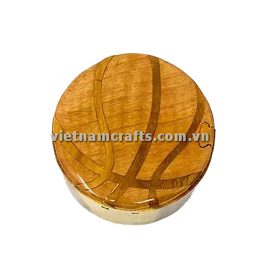Intarsia wood art wholesale Secret Wooden puzzle box manufacture Handcrafted wooden supplier made in Vietnam Basketball Puzzle Box