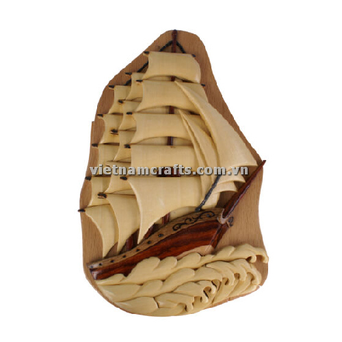 Intarsia wood art wholesale Secret Wooden puzzle box manufacture Handcrafted wooden supplier made in Vietnam boat (2)