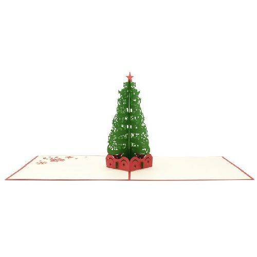 CM30 Buy Wholesale Retail 3d Pop Up Greeting Cards 3d Foldable Customize Christmas Tree Pop Up Card Noel (1)