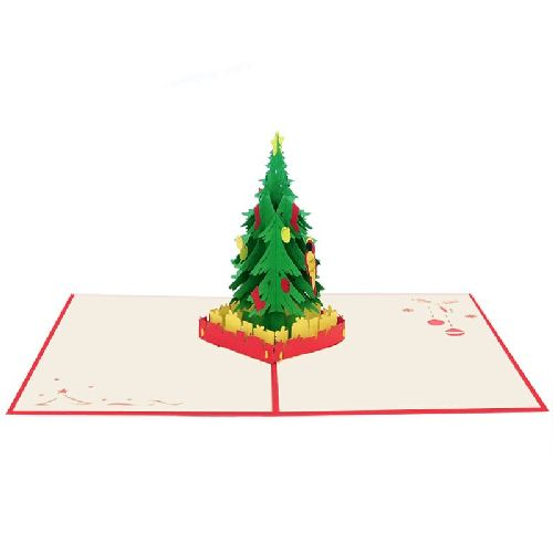 CM32 Buy Wholesale Retail 3d Pop Up Greeting Cards 3d Foldable Customize Christmas tree Pop Up Card Noel (2)
