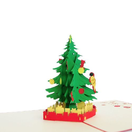 CM32 Buy Wholesale Retail 3d Pop Up Greeting Cards 3d Foldable Customize Christmas tree Pop Up Card Noel (4)