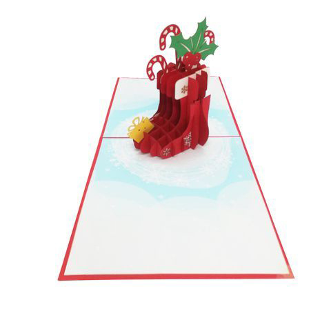 CM35 Buy Wholesale Retail 3d Pop Up Greeting Cards 3d Foldable Customize Christmas Pop Up Card Noel Stock (1)
