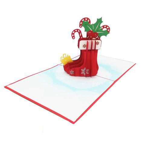 CM35 Buy Wholesale Retail 3d Pop Up Greeting Cards 3d Foldable Customize Christmas Pop Up Card Noel Stock (2)